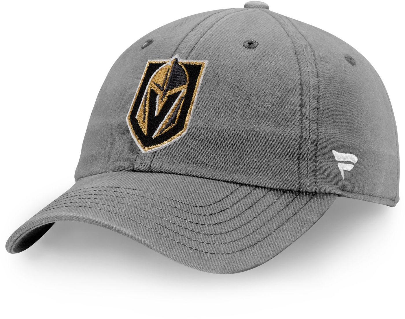 NHL Men's Vegas Golden Knights Primary Logo Grey Snapback Adjustable Hat