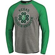 NHL Men's 2019 St. Patrick's Day Vegas Golden Knights Luck Green Long Sleeve Shirt