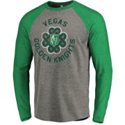 NHL Men's 2019 St. Patrick's Day Vegas Golden Knights Luck Green Long Sleeve Shirt