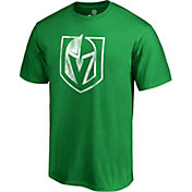NHL Men's 2019 St. Patrick's Day Vegas Golden Knights Logo Green T-Shirt