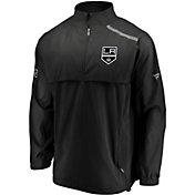 NHL Men's Los Angeles Kings Authentic Pro Rinkside Black Full-Zip Jacket