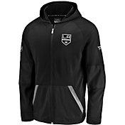 NHL Men's Los Angeles Kings Authentic Pro Rinkside Gridback Black Full-Zip Hoodie