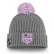 NHL Men's Los Angeles Kings Hockey Fights Cancer Pom Knit Beanie