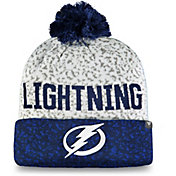 NHL Men's Tampa Bay Lightning Fan Weave Pom Knit Beanie