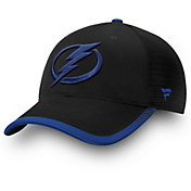 NHL Men's Tampa Bay Lightning Stripe Trucker Blue Snapback Adjustable Hat