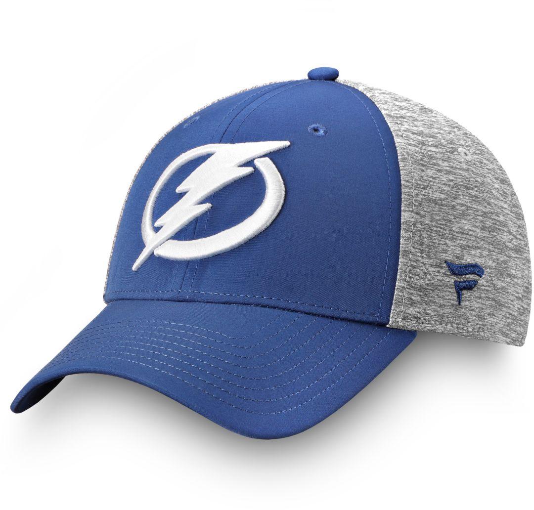 4764b76b NHL Men's Tampa Bay Lightning Logo Blue Flex Hat