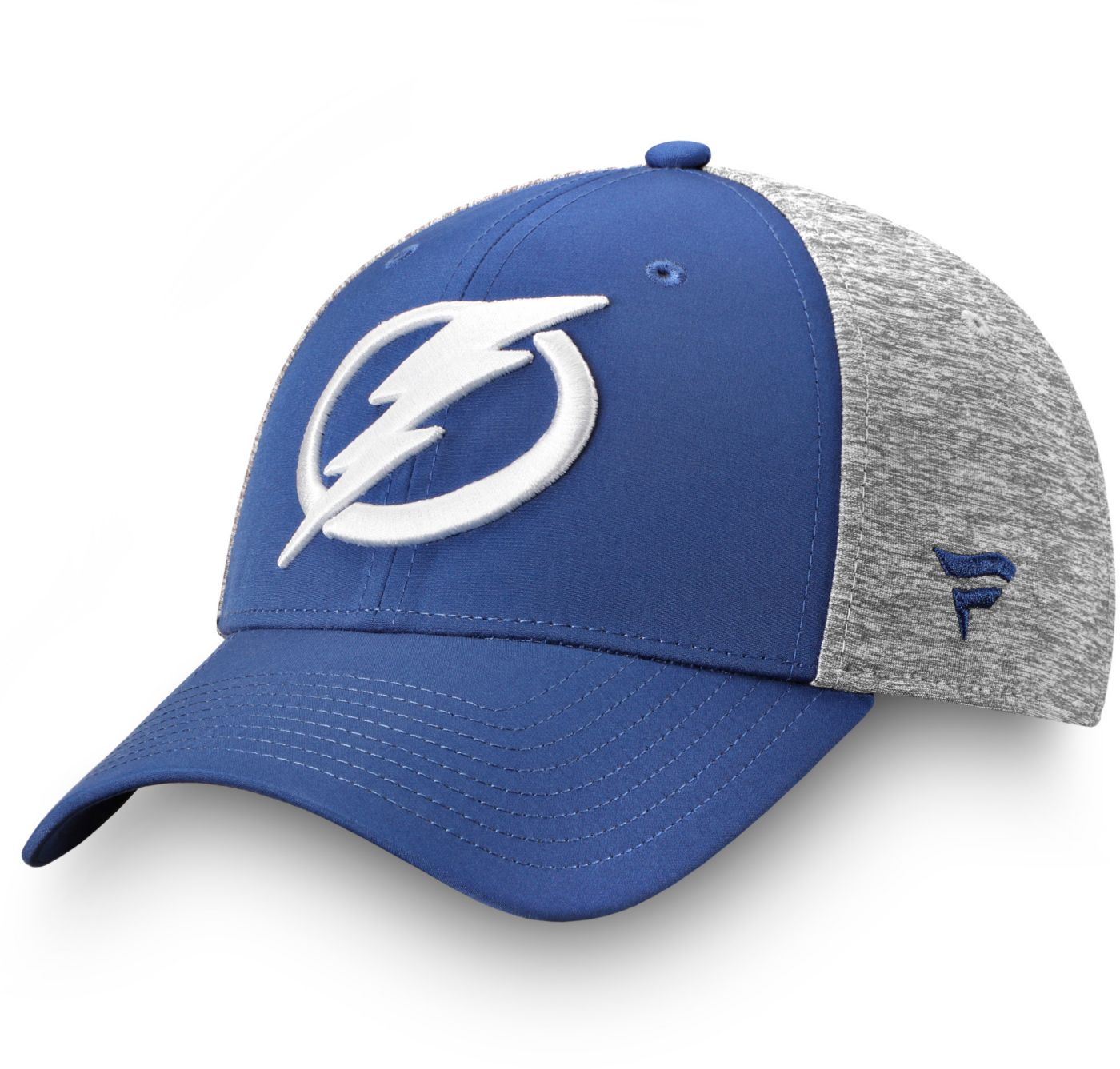 NHL Men's Tampa Bay Lightning Logo Blue Flex Hat