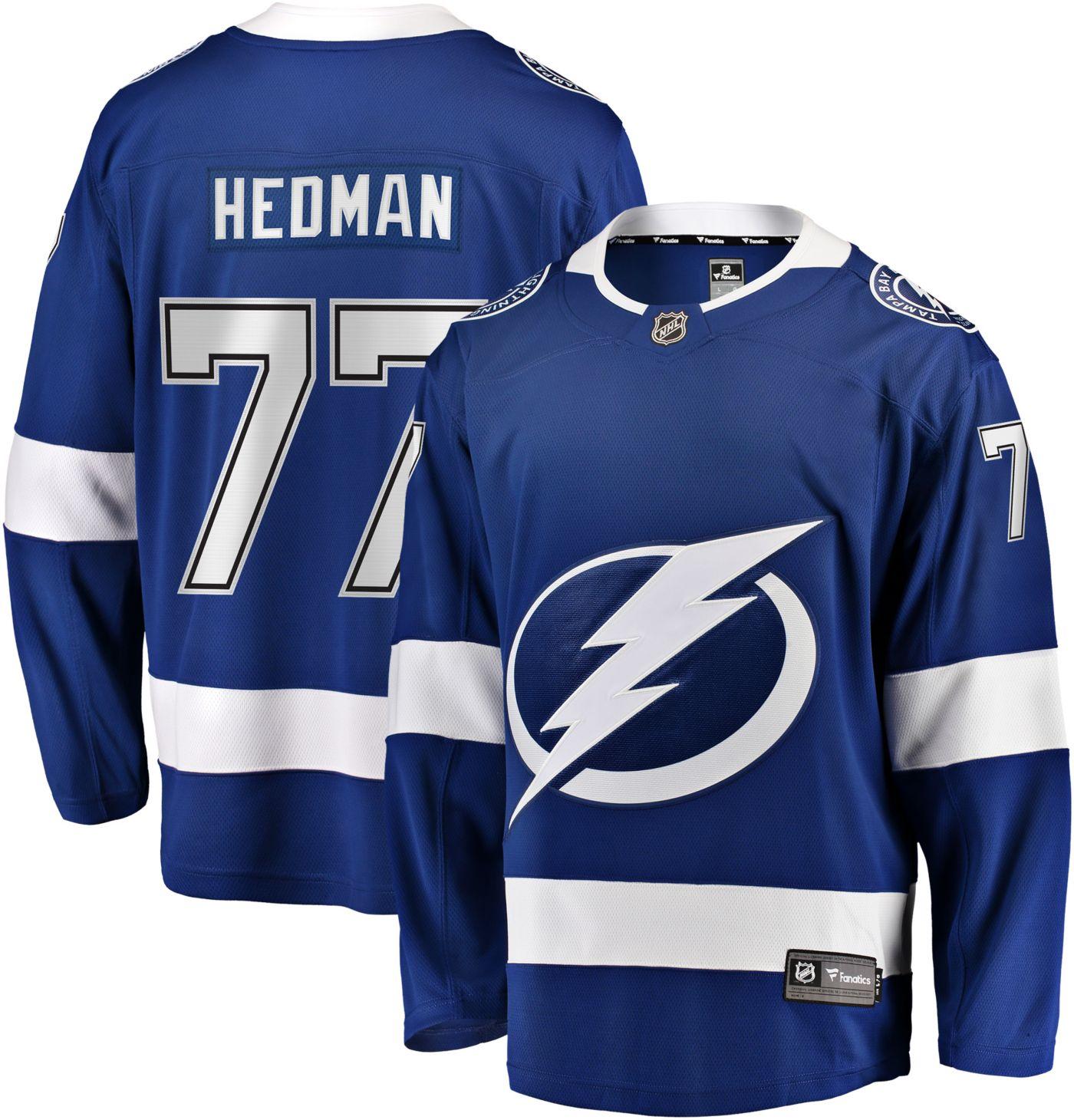 NHL Men's Tampa Bay Lightning Victor Headman #77 Breakaway Home Replica Jersey