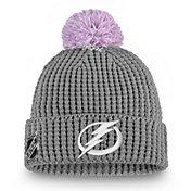 NHL Women's Tampa Bay Lightning Hockey Fights Cancer Pom Knit Beanie