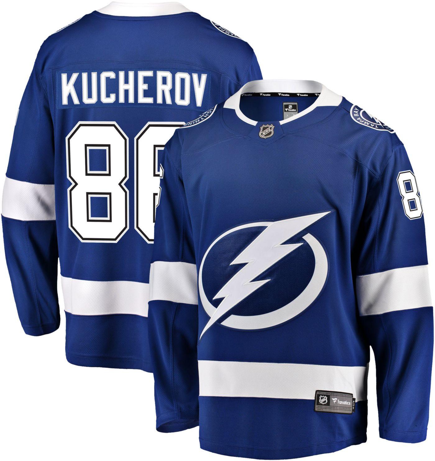 NHL Men's Tampa Bay Lightning Nikita Kucherov #86 Breakaway Home Replica Jersey