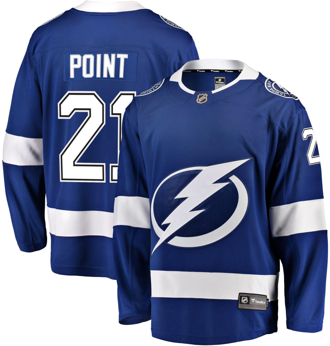 NHL Men's Tampa Bay Lightning Brayden Point #21 Breakaway Home Replica Jersey