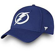 NHL Men's Tampa Bay Lightning Wordmark Royal Flex Hat