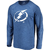 NHL Men's Tampa Bay Lightning Vital Royal Heathered Long Sleeve Shirt