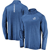 NHL Men's Tampa Bay Lightning Contend Royal Heathered Quarter-Zip Pullover