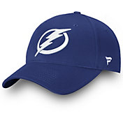 NHL Men's Tampa Bay Lightning Logo Blue Adjustable Hat