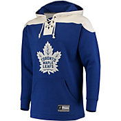 NHL Men's Toronto Maple Leafs Lace Up Blue Pullover Hoodie