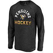 NHL Men's Pittsburgh Penguins Breezer Black Long Sleeve Shirt