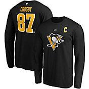 NHL Men's Pittsburgh Penguins Sidney Crosby #87 Black Long Sleeve Player Shirt