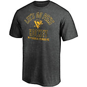 NHL Men's Pittsburgh Penguins Logo Black Tri-Blend T-Shirt