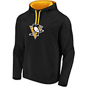 NHL Men's Pittsburgh Penguins Logo Black Pullover Hoodie