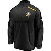 NHL Men's Pittsburgh Penguins Authentic Pro Rinkside Black Full-Zip Jacket