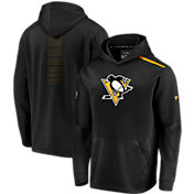 NHL Men's Pittsburgh Penguins Authentic Pro Rinkside Fleece Black Pullover Hoodie