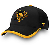 NHL Men's Pittsburgh Penguins Stripe Trucker Black Snapback Adjustable Hat