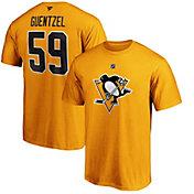 NHL Men's Pittsburgh Penguins Jake Guentzel #59 Gold Player T-Shirt