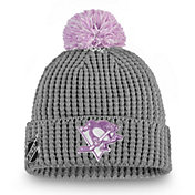 NHL Women's Pittsburgh Penguins Hockey Fights Cancer Pom Knit Beanie