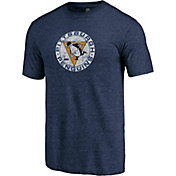 NHL Men's Pittsburgh Penguins Throwback Navy T-Shirt