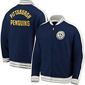 NHL Men's Pittsburgh Penguins Varsity Navy Full-Zip Track Jacket