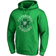 NHL Men's 2019 St. Patrick's Day Pittsburgh Penguins Luck Green Pullover Hoodie