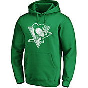 NHL Men's St. Patrick's Day Pittsburgh Penguins Logo Green Pullover Hoodie