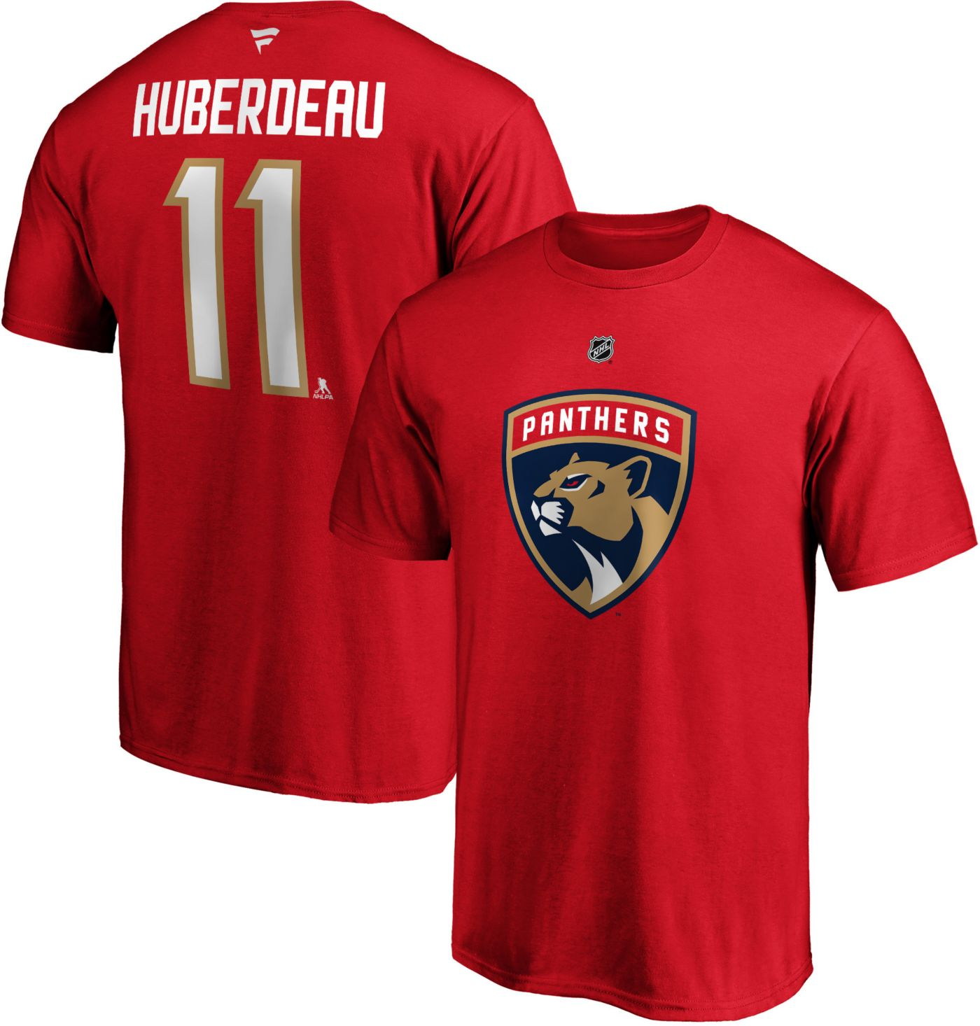 NHL Men's Florida Panthers Jonathan Huberdeau #11 Red Player T-Shirt