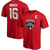 NHL Men's Florida Panthers Aleksandrew Barkov Jr. #16 Red Player T-Shirt