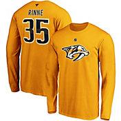 NHL Men's Nashville Predators Pekka Renne #35 Gold Long Sleeve Player Shirt