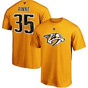 NHL Men's Nashville Predators Pekka Renne #35 Gold Player T-Shirt