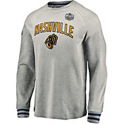 NHL Men's 2020 Winter Classic Nashville Predators Throwback Grey Long Sleeve Shirt