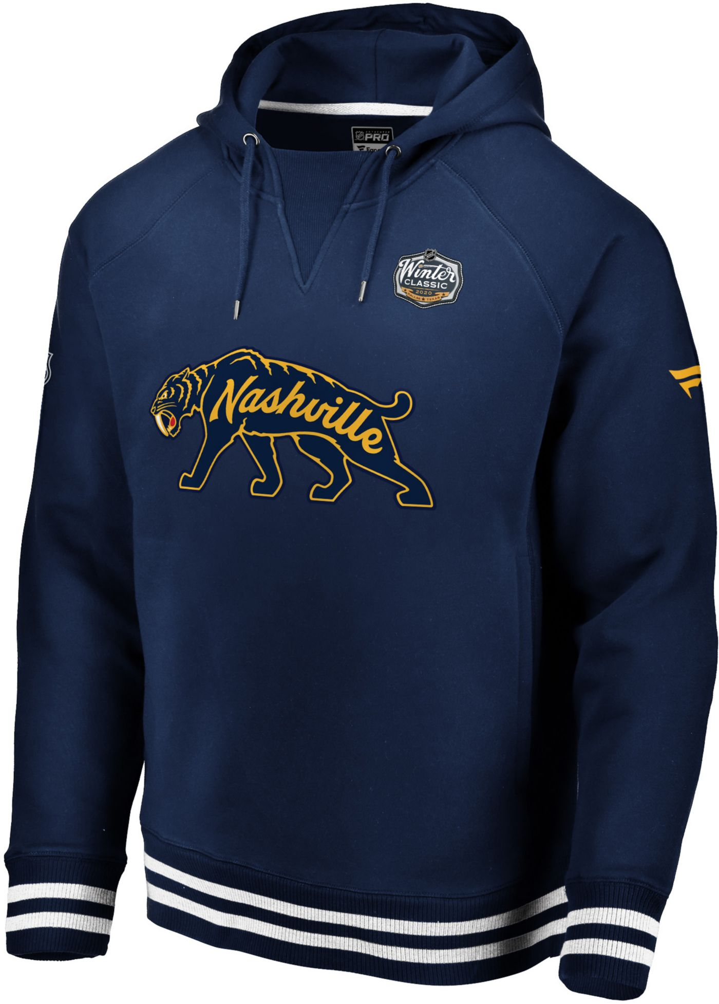 NHL Men's 2020 Winter Classic Nashville Predators Throwback Navy Pullover Hoodie