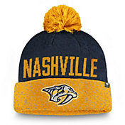 NHL Men's Nashville Predators Fan Weave Pom Knit Beanie