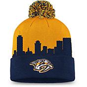 NHL Men's Nashville Predators Hometown Yellow Pom Knit Beanie