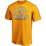 NHL Men's Nashville Predators Arc Stack Gold T-Shirt