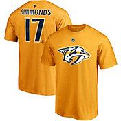 NHL Men's Nashville Predators Wayne Simmonds #17 Gold Player T-Shirt