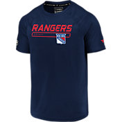 NHL Men's New York Rangers Authentic Pro Rinkside Navy T-Shirt
