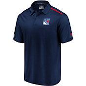 NHL Men's New York Rangers Authentic Pro Rinkside Navy Polo