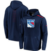 NHL Men's New York Rangers Authentic Pro Rinkside Fleece Navy Pullover Hoodie