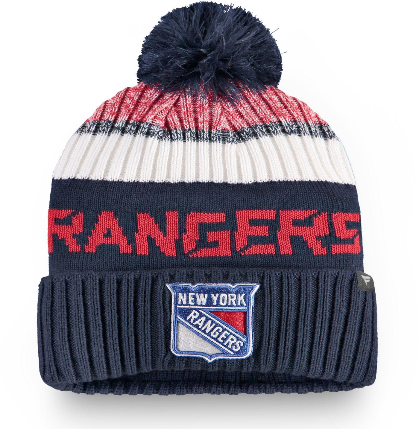 NHL Men's New York Rangers Rinkside Pom Knit Beanie