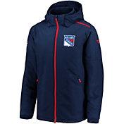 NHL Men's New York Rangers Rinkside Premier Navy Full-Zip Jacket