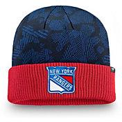 NHL Men's New York Rangers Iconic Cuff Knit Beanie