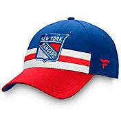 NHL Men's New York Rangers Authentic Pro Draft Royal Flex Hat